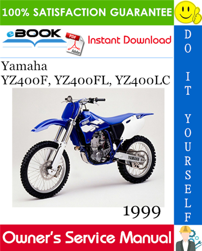 Thumbnail ☆☆ Best ☆☆ 1999 Yamaha YZ400F, YZ400FL, YZ400LC Motorcycle Owners Service Manual