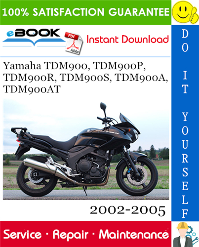 Thumbnail ☆☆ Best ☆☆ Yamaha TDM900, TDM900P, TDM900R, TDM900S, TDM900A, TDM900AT Motorcycle Service Repair Manual 2002-2005 Download