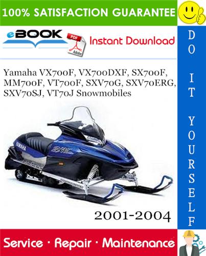 Thumbnail ☆☆ Best ☆☆ Yamaha VX700F, VX700DXF, SX700F, MM700F, VT700F, SXV70G, SXV70ERG, SXV70SJ, VT70J Snowmobiles Service Repair Manual 2001-2004 Download