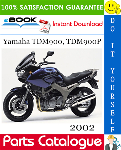 Thumbnail ☆☆ Best ☆☆ 2002 Yamaha TDM900, TDM900P Motorcycle Parts Catalogue Manual