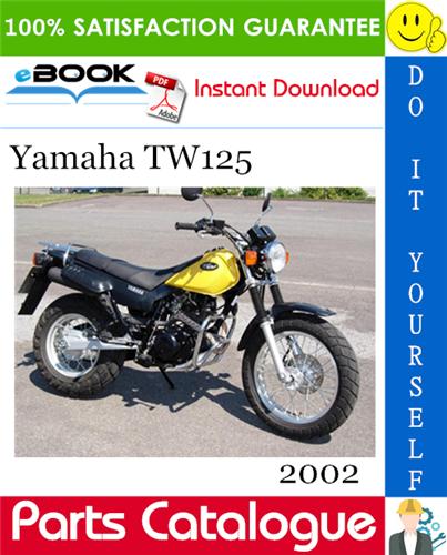 Thumbnail ☆☆ Best ☆☆ 2002 Yamaha TW125 Motorcycle Parts Catalogue Manual