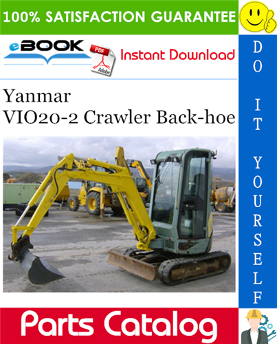Thumbnail ☆☆ Best ☆☆ Yanmar VIO20-2 Crawler Back-hoe Parts Catalog Manual