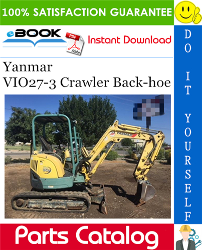 Thumbnail ☆☆ Best ☆☆ Yanmar VIO27-3 Crawler Back-hoe Parts Catalog Manual (for Japan)