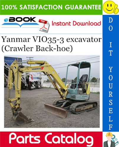 Thumbnail ☆☆ Best ☆☆ Yanmar VIO35-3 excavator (Crawler Back-hoe) Parts Catalog Manual (for Japan)