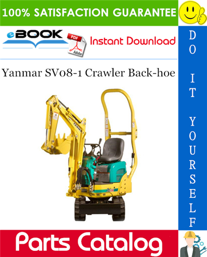 Thumbnail ☆☆ Best ☆☆ Yanmar SV08-1 Crawler Back-hoe Parts Catalog Manual