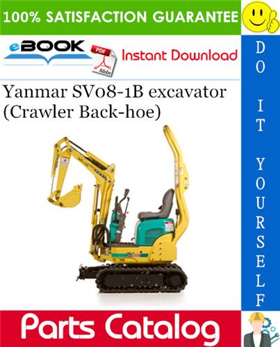 Thumbnail Yanmar SV08-1B excavator (Crawler Back-hoe) Parts Catalog Manual (for U.S.A., Korea)