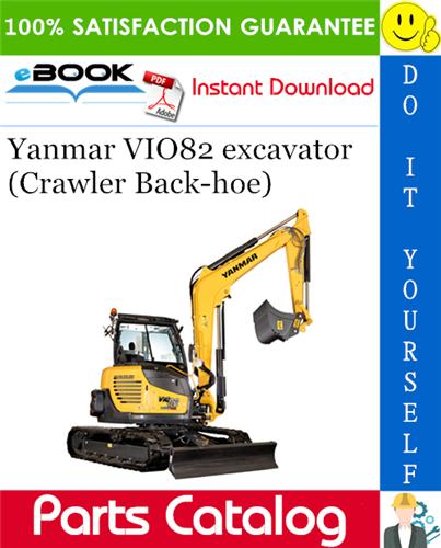 Thumbnail ☆☆ Best ☆☆ Yanmar VIO82 excavator (Crawler Back-hoe) Parts Catalog Manual (for Australia)