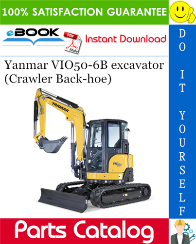Thumbnail Yanmar VIO50-6B excavator (Crawler Back-hoe) Parts Catalog Manual (for Brazil)