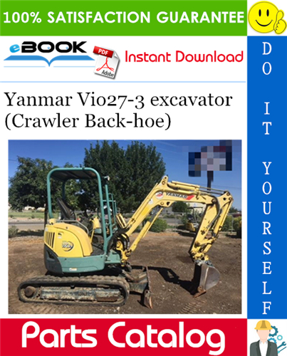 Thumbnail ☆☆ Best ☆☆ Yanmar Vio27-3 excavator (Crawler Back-hoe) Parts Catalog Manual (for U.S.A., Australia, New Zealand)