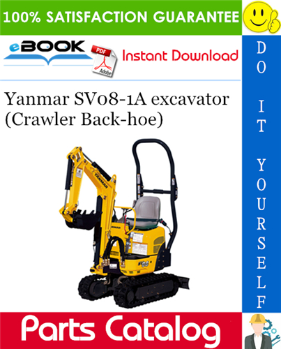 Thumbnail ☆☆ Best ☆☆ Yanmar SV08-1A excavator (Crawler Back-hoe) Parts Catalog Manual (for U.S.A., Australia, Korea, New Zealand, South Africa & Hong Kong)