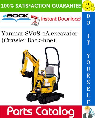 Thumbnail Yanmar SV08-1A excavator (Crawler Back-hoe) Parts Catalog Manual (for U.S.A., Australia, Korea, New Zealand, South Africa & Hong Kong)