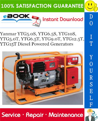 Thumbnail ☆☆ Best ☆☆ Yanmar YTG5.0S, YTG6.5S, YTG10S, YTG5.0T, YTG6.5T, YTG9.0T, YTG12.5T, YTG15T Diesel Powered Generators Service Repair Manual