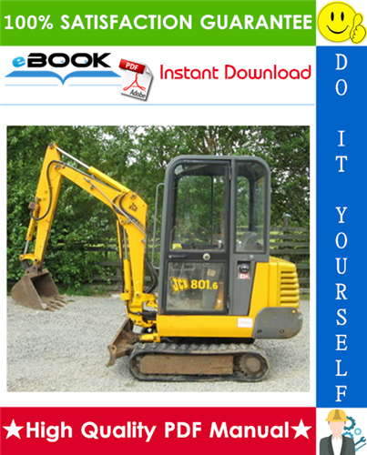 Thumbnail ☆☆ Best ☆☆ JCB 801 Tracked Excavator Service Repair Manual