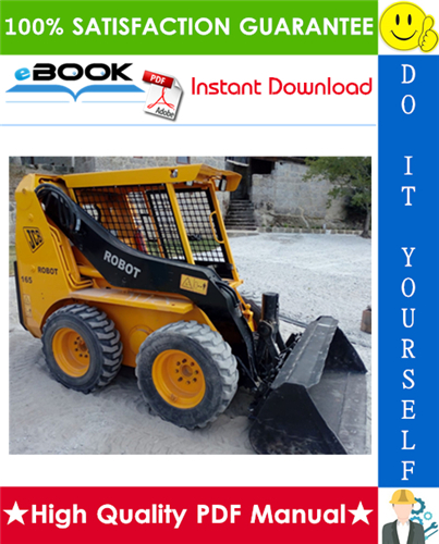 Thumbnail ☆☆ Best ☆☆ JCB Robot 150, 165, 165HF Skid Steer Loader Service Repair Manual