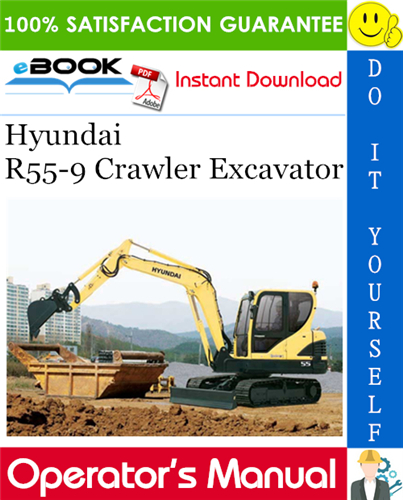 Thumbnail ☆☆ Best ☆☆ Hyundai R55-9 Crawler Excavator Operators Manual