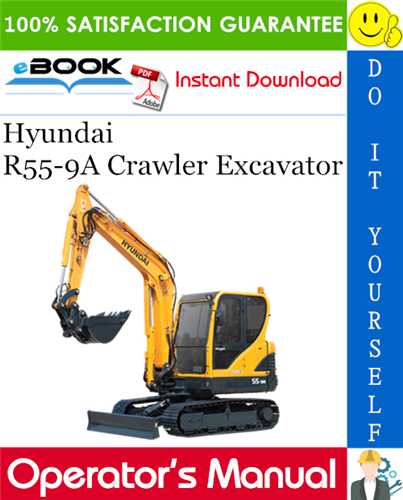 Thumbnail ☆☆ Best ☆☆ Hyundai R55-9A Crawler Excavator Operators Manual