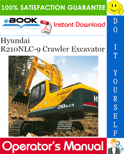 Thumbnail ☆☆ Best ☆☆ Hyundai R210NLC-9 Crawler Excavator Operators Manual