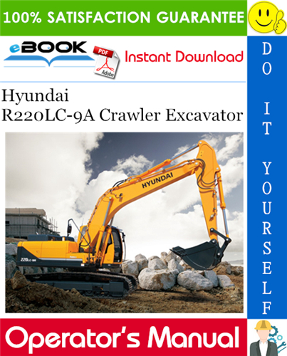 Thumbnail ☆☆ Best ☆☆ Hyundai R220LC-9A Crawler Excavator Operators Manual