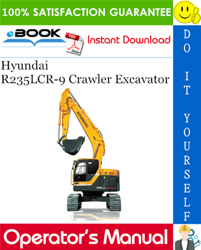 Thumbnail ☆☆ Best ☆☆ Hyundai R235LCR-9 Crawler Excavator Operators Manual
