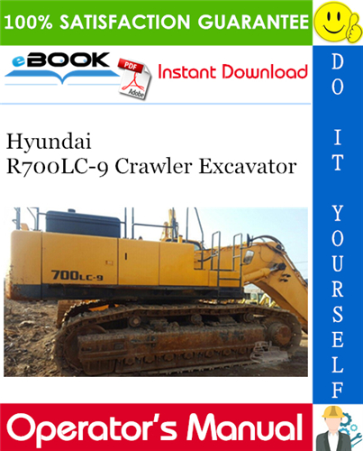Thumbnail ☆☆ Best ☆☆ Hyundai R700LC-9 Crawler Excavator Operators Manual