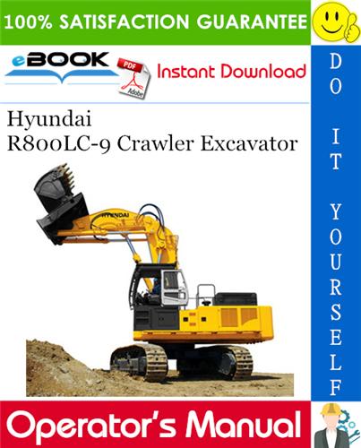 Thumbnail ☆☆ Best ☆☆ Hyundai R800LC-9 Crawler Excavator Operators Manual