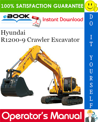 Thumbnail ☆☆ Best ☆☆ Hyundai R1200-9 Crawler Excavator Operators Manual