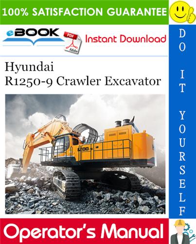 Thumbnail ☆☆ Best ☆☆ Hyundai R1250-9 Crawler Excavator Operators Manual