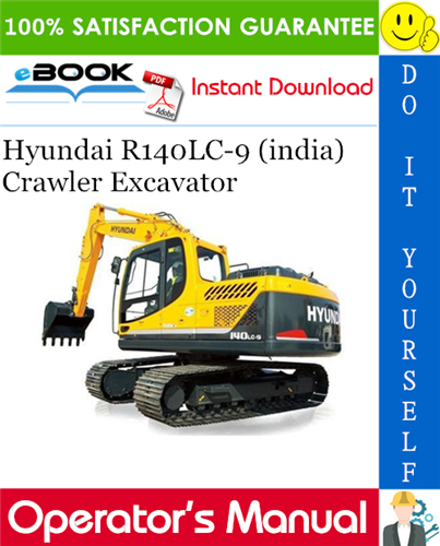 Thumbnail ☆☆ Best ☆☆ Hyundai R140LC-9 (india) Crawler Excavator Operators Manual