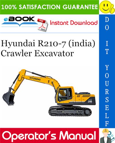 Thumbnail ☆☆ Best ☆☆ Hyundai R210-7 (india) Crawler Excavator Operators Manual