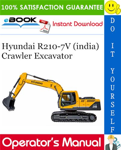 Thumbnail ☆☆ Best ☆☆ Hyundai R210-7V (india) Crawler Excavator Operators Manual