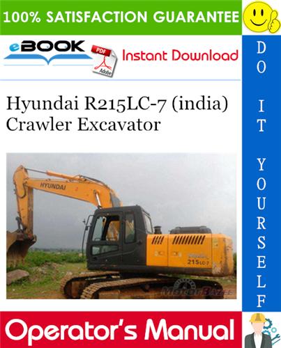Thumbnail ☆☆ Best ☆☆ Hyundai R215LC-7 (india) Crawler Excavator Operators Manual