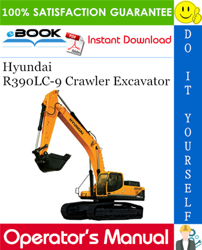 Thumbnail ☆☆ Best ☆☆ Hyundai R390LC-9 Crawler Excavator Operators Manual