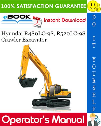 Thumbnail ☆☆ Best ☆☆ Hyundai R480LC-9S, R520LC-9S Crawler Excavator Operators Manual