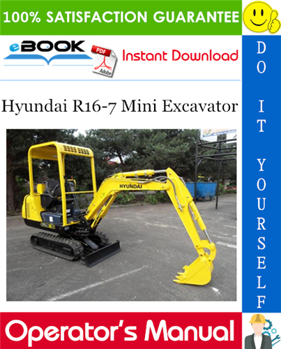 Thumbnail ☆☆ Best ☆☆ Hyundai R16-7 Mini Excavator Operators Manual