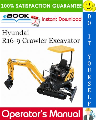 Thumbnail ☆☆ Best ☆☆ Hyundai R16-9 Crawler Excavator Operators Manual