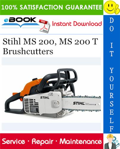Thumbnail ☆☆ Best ☆☆ Stihl MS 200, MS 200 T Brushcutters Service Repair Manual