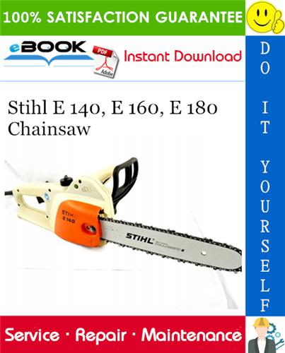 Thumbnail ☆☆ Best ☆☆ Stihl E 140, E 160, E 180 Chainsaw Service Repair Manual