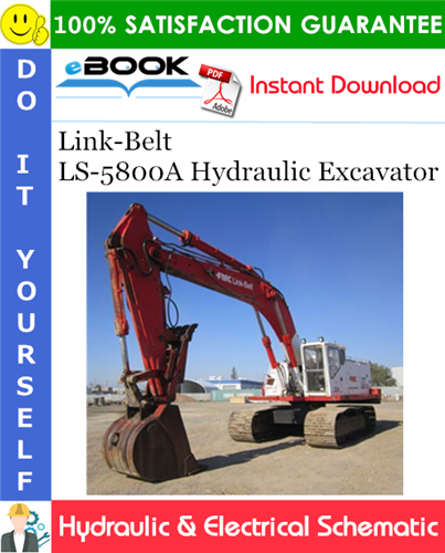 Thumbnail ☆☆ Best ☆☆ Link-Belt LS-5800A Hydraulic Excavator Hydraulic & Electrical Schematic