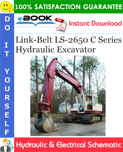 Thumbnail ☆☆ Best ☆☆ Link-Belt LS-2650 C Series Hydraulic Excavator Hydraulic & Electrical Schematic