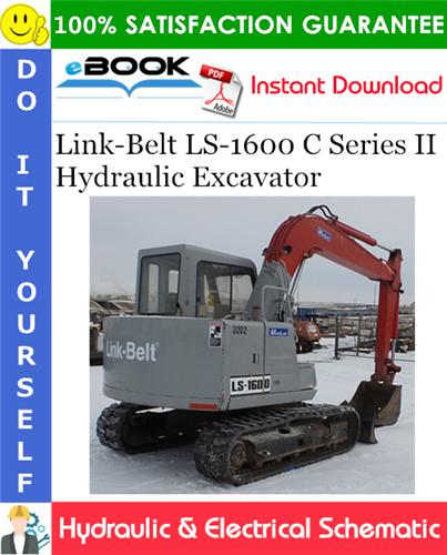 Thumbnail ☆☆ Best ☆☆ Link-Belt LS-1600 C Series II Hydraulic Excavator Hydraulic & Electrical Schematic