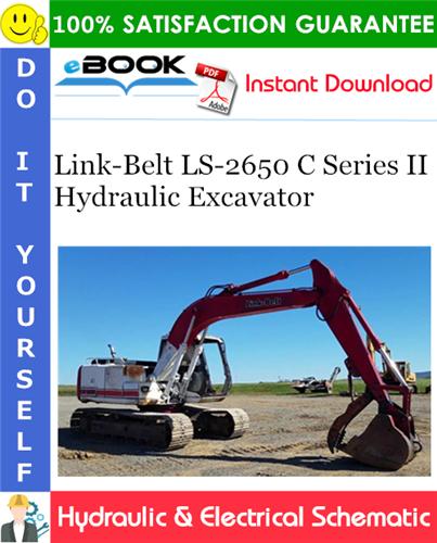 Thumbnail ☆☆ Best ☆☆ Link-Belt LS-2650 C Series II Hydraulic Excavator Hydraulic & Electrical Schematic