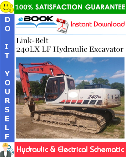 Thumbnail ☆☆ Best ☆☆ Link-Belt 240LX LF Hydraulic Excavator Hydraulic & Electrical Schematic