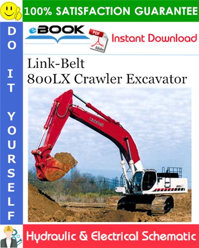 Thumbnail ☆☆ Best ☆☆ Link-Belt 800LX Crawler Excavator Hydraulic & Electrical Schematic