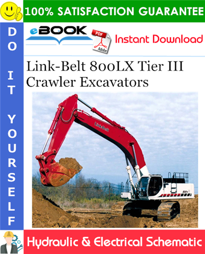 Thumbnail ☆☆ Best ☆☆ Link-Belt 800LX Tier III Crawler Excavators Hydraulic & Electrical Schematic