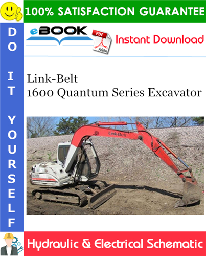Thumbnail ☆☆ Best ☆☆ Link-Belt 1600 Quantum Series Excavator Hydraulic & Electrical Schematic