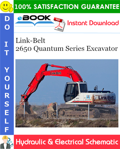 Thumbnail ☆☆ Best ☆☆ Link-Belt 2650 Quantum Series Excavator Hydraulic & Electrical Schematic