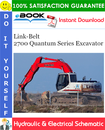 Thumbnail ☆☆ Best ☆☆ Link-Belt 2700 Quantum Series Excavator Hydraulic & Electrical Schematic