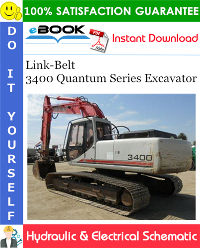 Thumbnail ☆☆ Best ☆☆ Link-Belt 3400 Quantum Series Excavator Hydraulic & Electrical Schematic