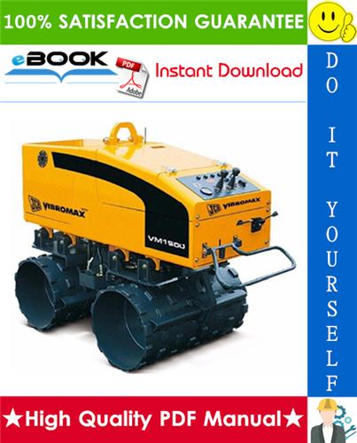 Thumbnail ☆☆ Best ☆☆ JCB Vibromax VM 1500 Trench Roller Service Repair Manual