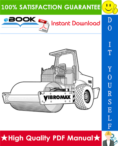 Thumbnail ☆☆ Best ☆☆ JCB Vibromax 1105, 1106, 1405, 1805 Single Drum Roller Service Repair Manual